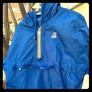 K-way blue anorak jacket